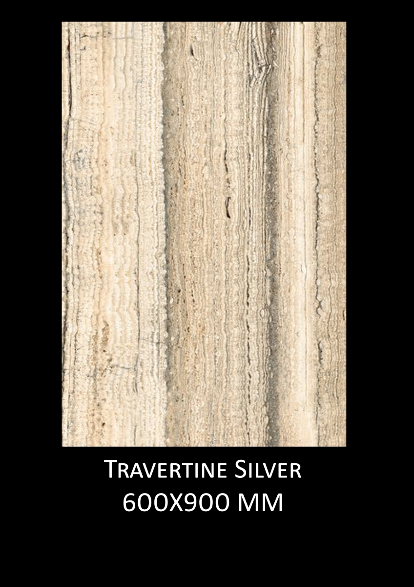Travertine-Silver